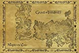 Game of Thrones Antique Map TV Show Giant Poster 55x39