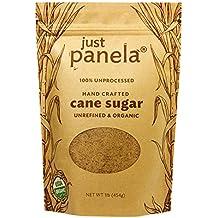 Just Panela Sugar Cane Unrefined Organic, 1 lb