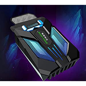Gaming Professional Air Extracting Laptop Cooling with Vacuum Fan,Hardcore Gamer Perfect Partner,Quiet Operation,CPU Cooler,Metal+ABS,USB Powered,Black