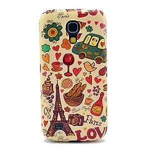 GDW Teléfono Móvil Samsung - Cobertor Posterior - Gráfico/Diseño Especial/Nombre de Estilo Marca - para Samsung S4 Mini I9190 ( Multi-color ,