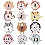 Ohomr Baby Stickers For First Year Boy and Girl Onesie 1-12 Month Milestone Belly Stickers