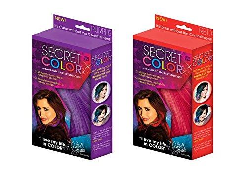 Secret Allstar Color Headband Hair Extensions Two Pack Bu...