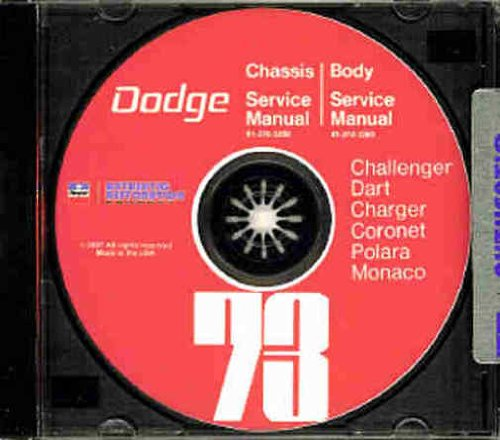 1973 DODGE FACTORY REPAIR SHOP & SERVICE MANUAL & BODY MANUAL CD INCUDES: Challenger, Charger, Rally, SE, Coronet, Crestwood, Dart Sport, Swinger, Monaco, Polara and Custom, including all convertibles and wagons. 73 ()