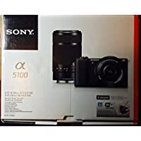 Sony Alpha A5100 Wi-Fi Digital Camera & 16-50mm Lens (Black) with E-Mount 55-210mm f/4.5-6.3 OSS Zoom Lens
