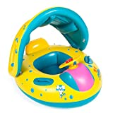Baby Pool Floats with Canopy Swim Ring Inflatable Pool Toys by WXDZ