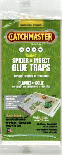 Spider & Insect Glue Trap - 4 Professional Strength Traps per Package (Spiders Traps Glue)