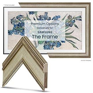 "Deco TV Frames - Warm Silver Frame Custom for Samsung The Frame TV (55"")"