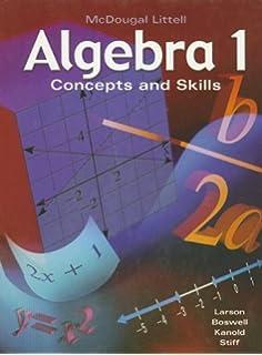Amazon.com: McDougal Littell Algebra 1: Concepts and Skills ...