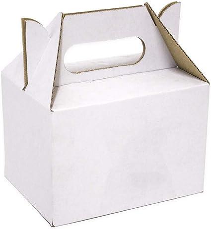 Kartox | Caja Picnic Mini de Cartón Blanco | Caja para Fiestas ...
