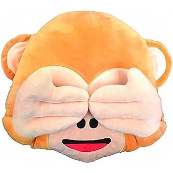 Amazon Dolphineshow Soft Plush Emoji Monkey Pillow Home Kitchen Mesmerizing Monkey Covering Eyes Emoji Pillow