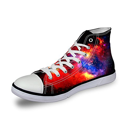 High Women Canvas 5 Galaxy Top Design for US Sneakers 12 5 Trainers Casual Shoes Size Teenagers LedBack Fashion 5q6XxwYY