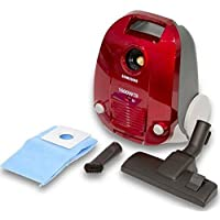 Samsung Canister with Easy Dust Blowing Function Vacuum Cleaner, Red, 3 Liters, SC4130, 1 Year Warranty