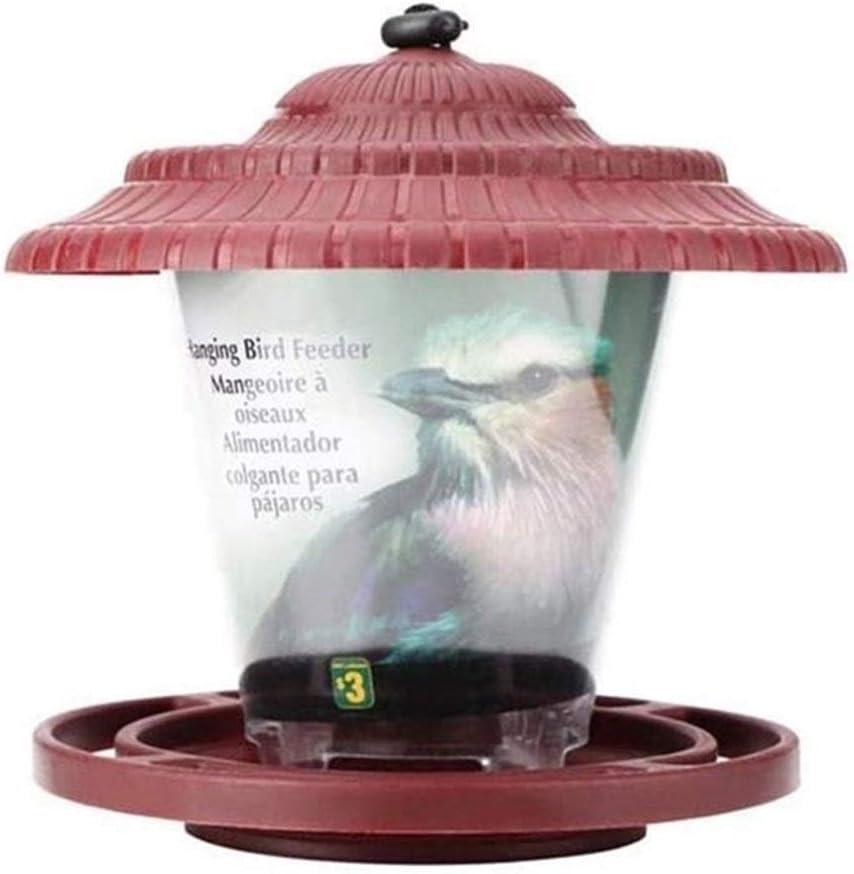Comedero para pájaros, Pequeño comederos de aves colgante impermeable Alimentador de pájaros salvajes por yarda del jardín del hogar colgante al aire libre viento y la lluvia Resistente Decoración