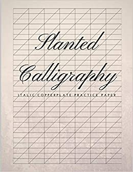 slanted calligraphy italic copperplate practice paper slanted graph
