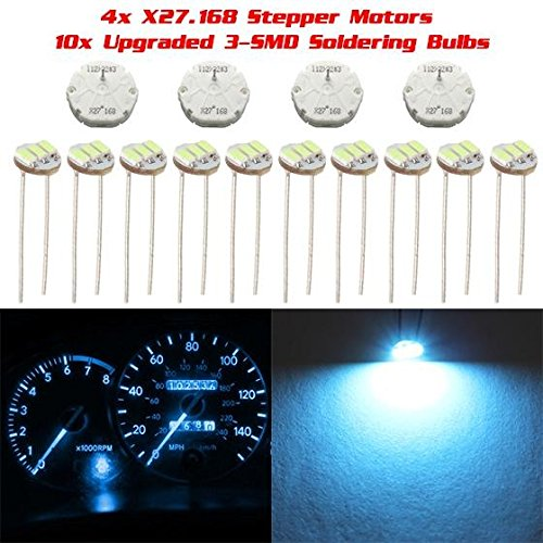 ECCPP 4Pcs X27 168 Stepper Motor for Instrument Cluster Gauge Speedometer Kit