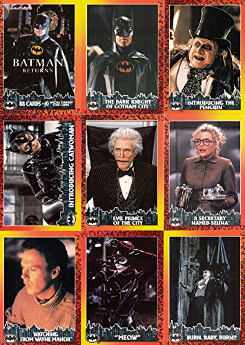 BATMAN RETURNS MOVIE 1992 TOPPS COMPLETE BASE CARD SET & STADIUM CLUB SET 88 & 10 DC ()