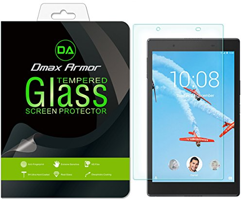 Dmax Armor for Lenovo Tab 4 8 Glass Screen Protector, [Tempered Glass] 0.3mm 9H Hardness, Anti-Scratch, Anti-Fingerprint, Bubble Free, Ultra-Clear