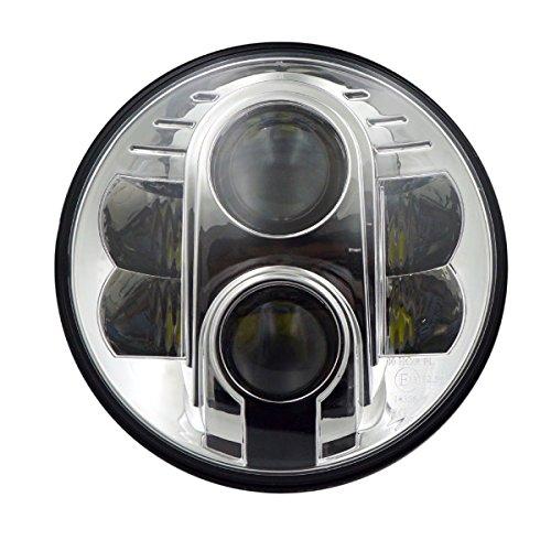 ヘッドライト LED 7インチ 1個 CREE/2800lm ラウンドタイプ/12V/24V/ インナークローム シルバー/_52177 B01H8KHK0W