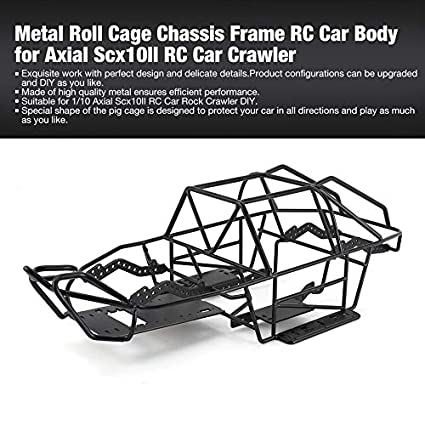 Metal Roll Cage Chassis Frame RC Car Body for Axial Scx10II