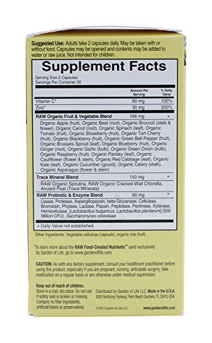 UPC 632687739852, Garden Of Life Vitamin Code Raw Zinc, 120 Capsules
