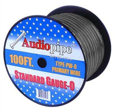 AudioPipe PW025SILVER 25 ft. Roll 0 Gauge Power Wire 4 - Silver