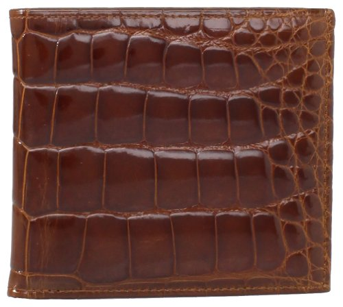 Croco Hipster Mens Wallet - Trafalgar Men's Trafalgar Alligator Hipster Wallet, Chestnut, One Size