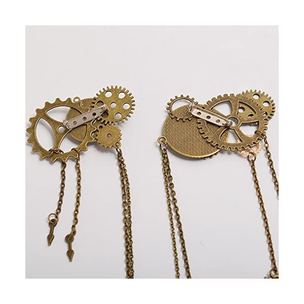BLESSUME Unisex Steampunk Brooch Lapel Pin 4