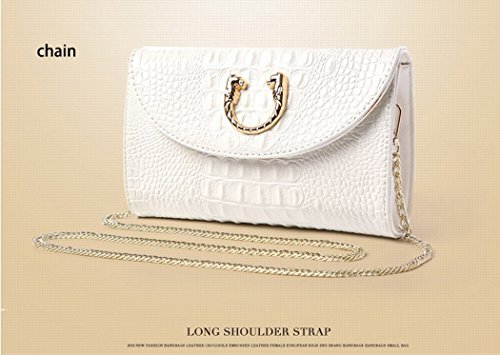 Purse Evening Strap Fashion Party Leather Bag White White Women Bag Color Black Gold Handbag Shoulder Cross Hand Clutch PU Removable Body with xAnCqS