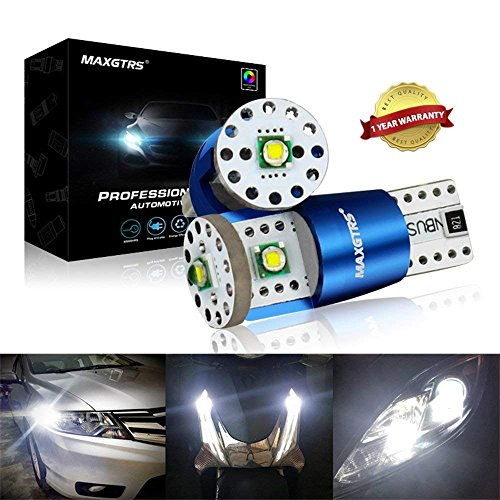 Car LED Bulbs T10 194 168 192 175 W5W Extremely Bright Error Free CAN BUS Led Light Cree Chip For Wedge Door Side Replacement Reverse 15W 6000K White Auto Interior Dome License Plate Tag Wedge Light