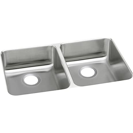 Elkay Lustertone ELUHAD361855 Equal Double Bowl Undermount Stainless Steel  ADA Kitchen Sink