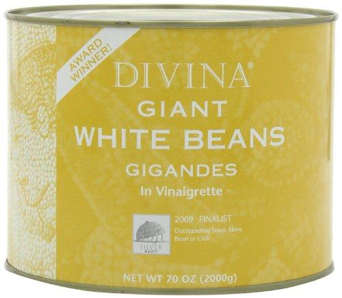 Divina Giant White Beans Vinaigrette, 4.4lbs by Divina