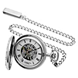 Charles-Hubert, Paris Sterling Silver Mechanical Pocket Watch