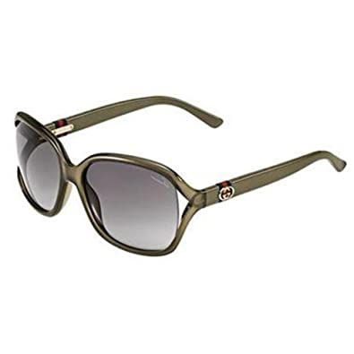 cc6683ad850 Amazon.com  Gucci Sunglasses - 3646   Frame  Olive Lens  Smoke Gradient   Shoes