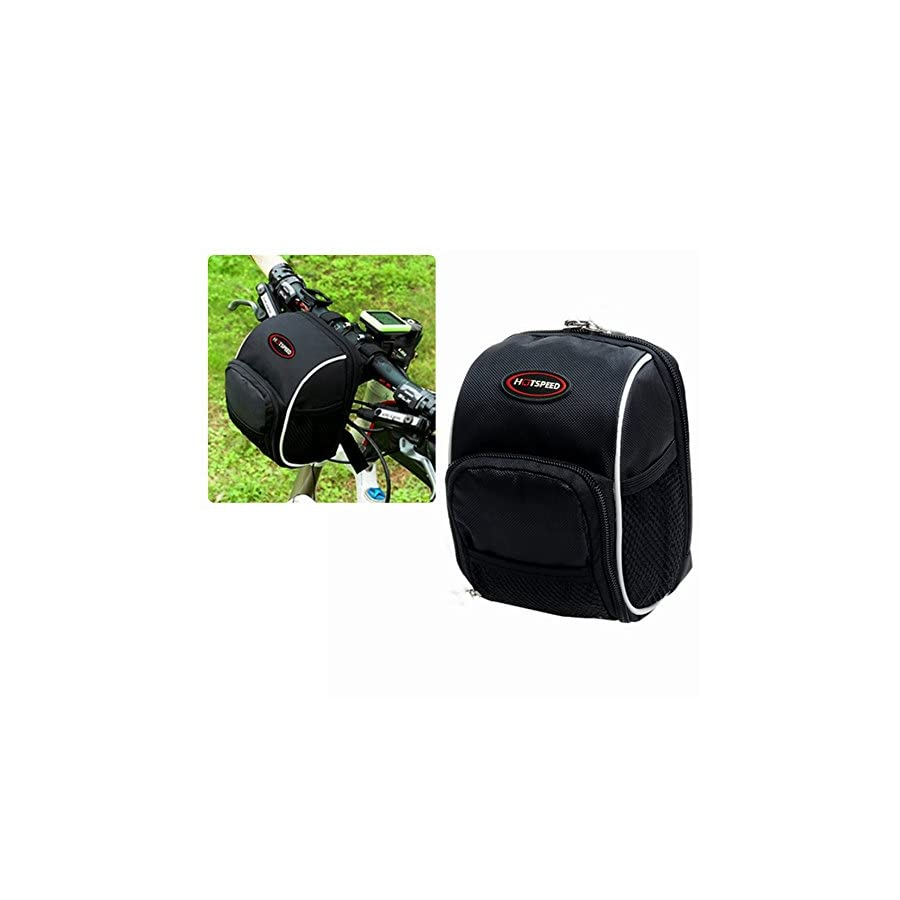 Bike Handlebar Bag, Bicycle Front Bags Cycling Waterproof Storage Under Seat Pack with Rainproof Cover Black by LC dolida