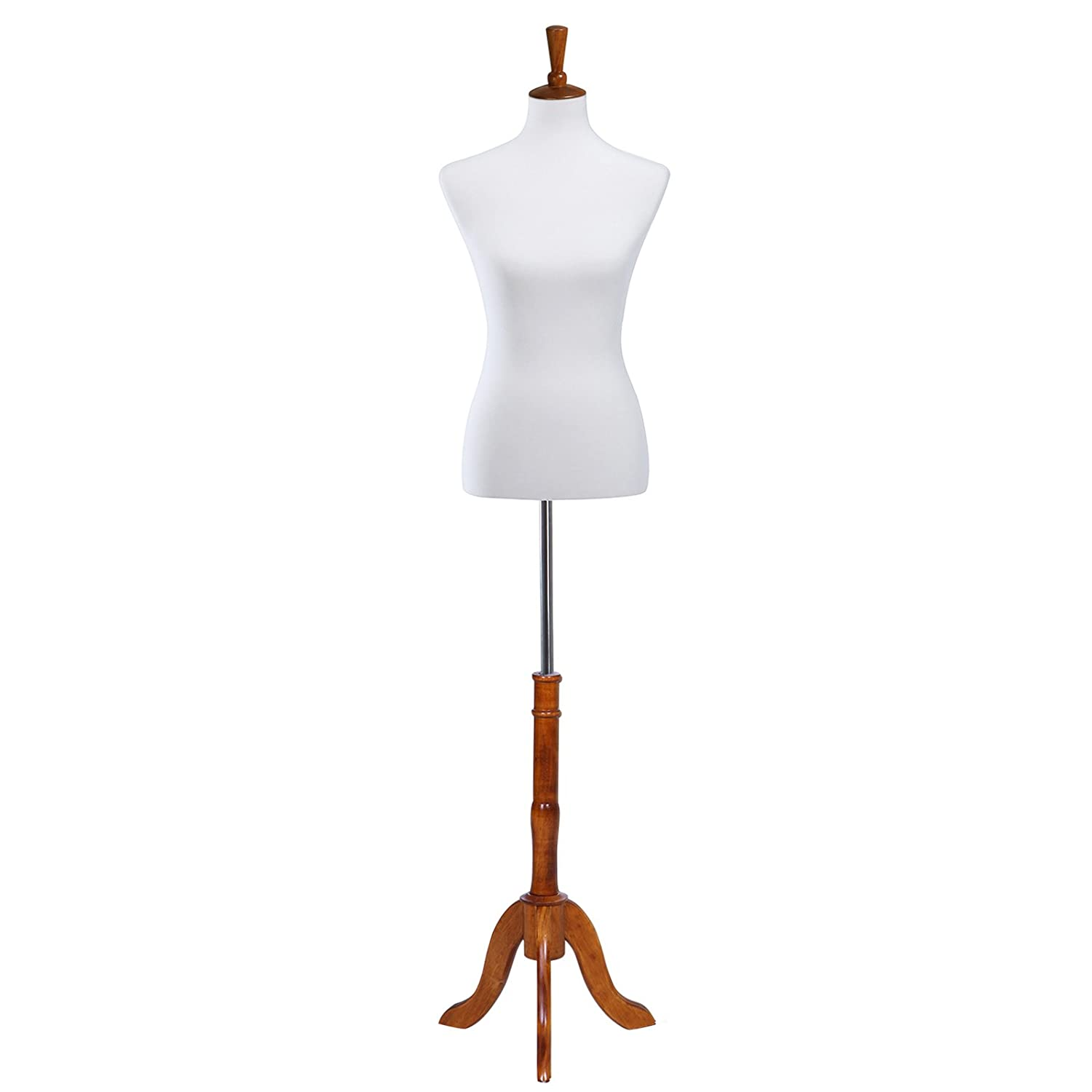 34 26 35 Medium Size 6-8 for Clothing Dress Jewelry Display Photography White UMDF04WT SONGMICS Female Mannequin Torso Body Form with Adjustable Tripod Stand