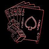 KTYX Nightlight Poker Colorful Three-dimensional Visual Lights night light (Size : Telecontrol touch)