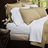 Natural Luxury Bamboo Bed Sheets - HIGHEST QUALITY Ultra Soft 4 Piece Eco-Friendly Bamboo Bed Sheets - Wrinkle Free & Hypoallergenic - Queen - White