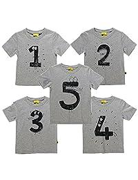 Zhengpin Summer Boy T Shirt Kids Short Sleeve Print Casual Tees Child Clothes