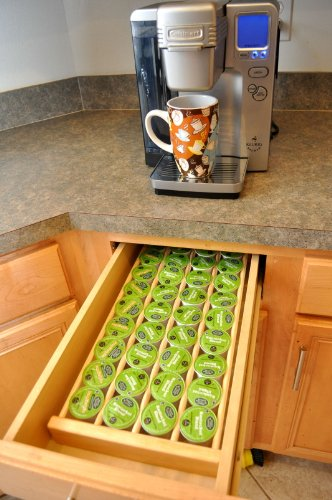 Coffee Pod Storage Organizer Made in America Insert for Drawer Holds 36
