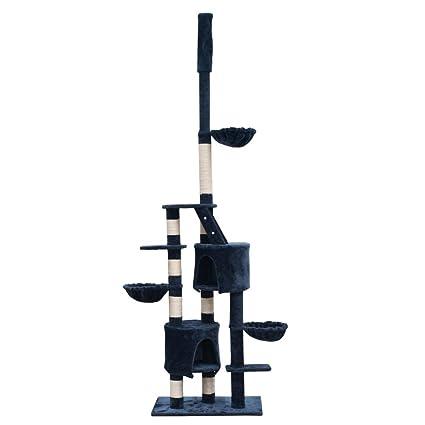 SENLUOWX Poste de Rascador Para Gatos Xl 230-260 cm con Seguridad y Un Juego