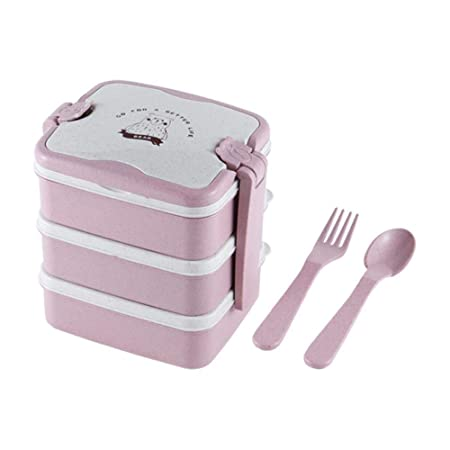 Cranky Orange 3-Layers Lunch Box Microondas Paja de Trigo ...
