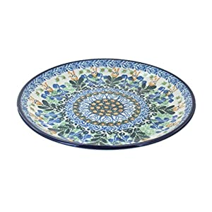 Blue Rose Polish Pottery Lily of the Valley Dessert Plate