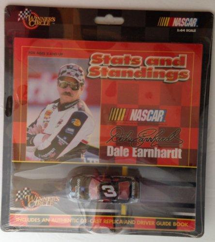 Jeff Gordon #24 & Dale Earnhardt #3 Double Pack NASCAR Stats & Standings Book & 1:64 Diecast CAR Set