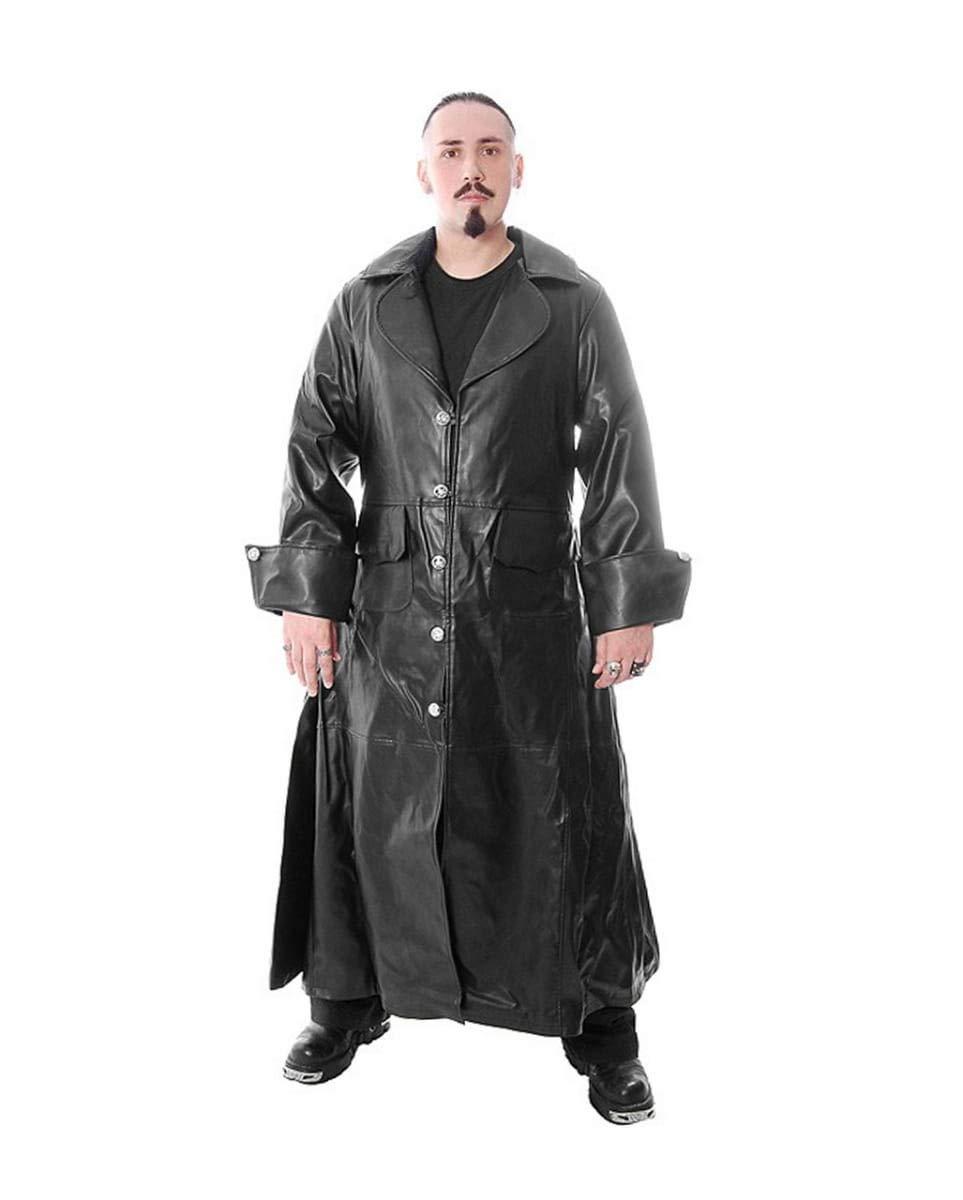 Barato Horror-Shop Piratas gótico de imitación de Cuero de la Chaqueta M