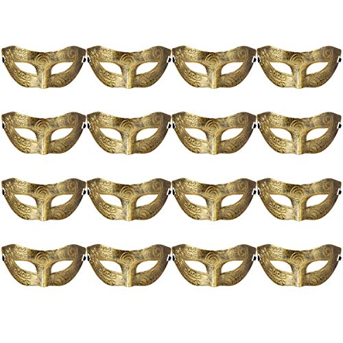 Masquerades Venetian Masks Costumes Party Accessory Gold]()