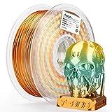 AMOLEN 3D Printer Filament,Silk Rainbow Multicolor PLA Filament 1.75mm,+/-0.03mm,1KG