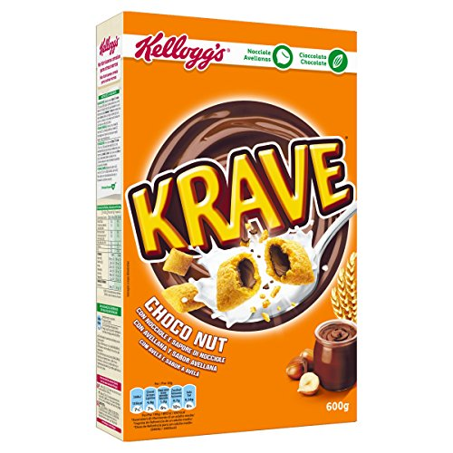 Kelloggs Cereales Krave Choco and Nuts - 6 Paquetes de 375 gr - Total: 750 gr: Amazon.es: Alimentación y bebidas