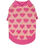Blueberry-Pet-Cutie-V-neck-Dog-Sweater-in-Shrimp-Color-with-Valentine-Pink-Hearts