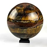 Astro Gallery Of Gems Polished Tiger Eye Sphere - 1. 45 LBS