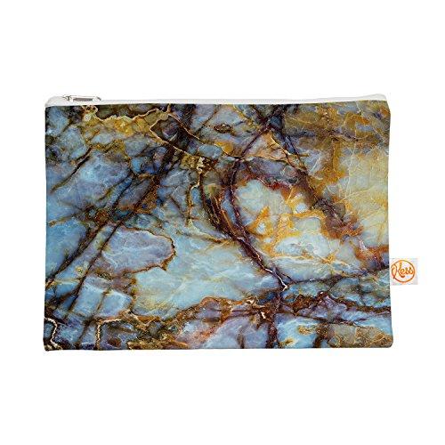 Kess eigene 12,5x 21,6cm Original opalized Marmor Alles Tasche–Blau/Braun